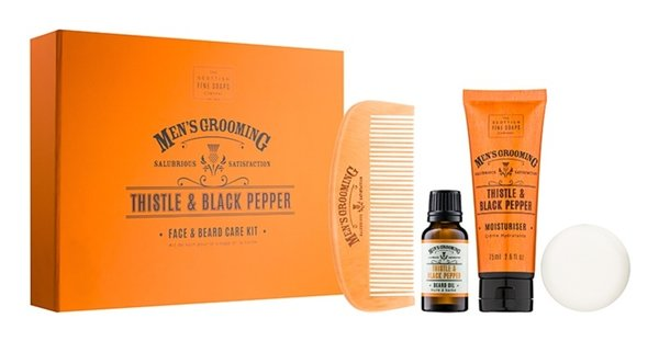 Scottish Fine Soaps Men's Grooming Face & Beard Care Box